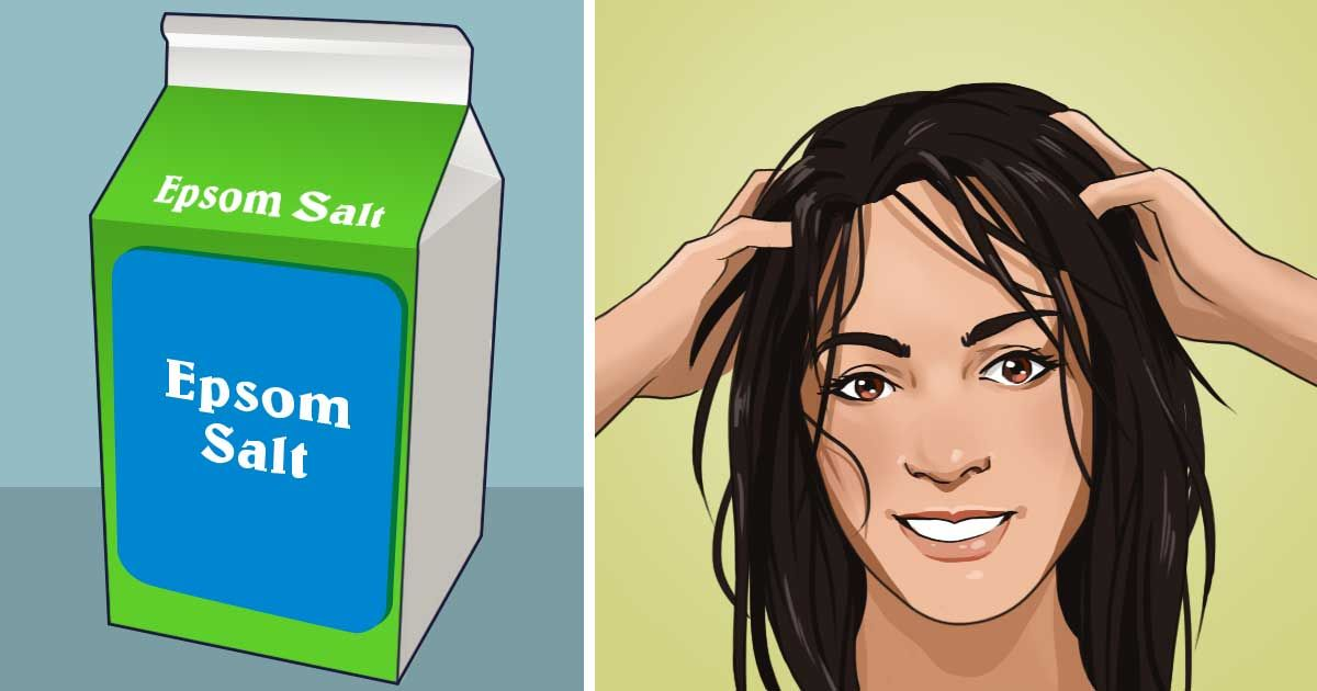 If you rub epsom salt into your hair, the unexpected effect will surprise you